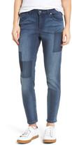 Caslon Patchwork Skinny Jeans (Regular & Petite)