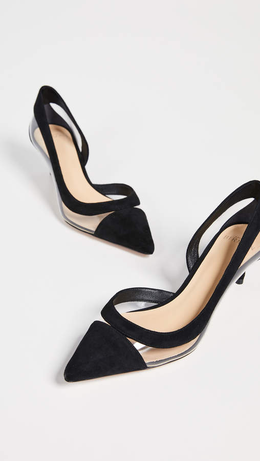 Alexandre Birman Wavee Vinyl Kitten Pumps