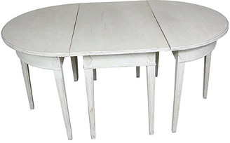 One Kings Lane Vintage Gustavian-Style Dining Table - 3 Pcs - Schorr & Dobinsky