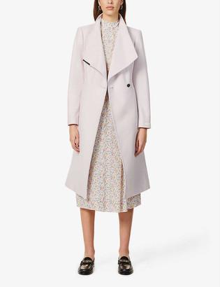 Ted Baker Wool-blend midi-length wrap coat