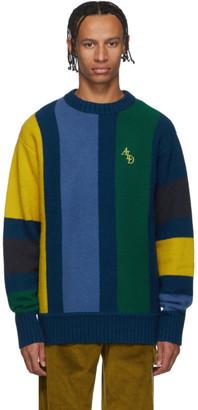 Leon Aime Dore Blue Vertical Stripe Sweater