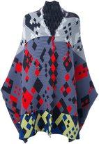 Peter Pilotto ottoman knit cape - women - Wool/Angora/Polyamide/Spandex/Elastane - XS/S