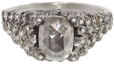Cathy Waterman Grey Moghul Cut Diamond Secret Door Ring