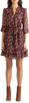 Shoshanna Carlisle Woodland Garden 1/2-Sleeve Dress
