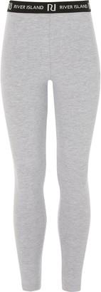 River Island Girls Grey RI leggings