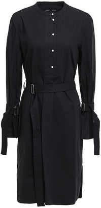 Proenza Schouler Belted Stretch Cotton-poplin Dress