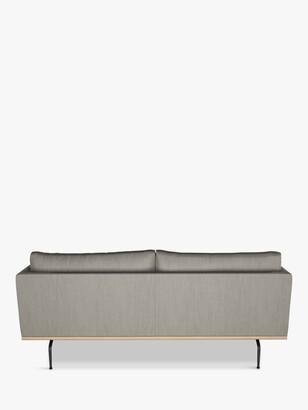 John Lewis & Partners Platform Large 3 Seater Sofa, Black Leg, Relaxed Linen Storm