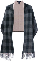 Woolrich checked cape scarf - women - Cotton/Polyamide/Wool - One Size