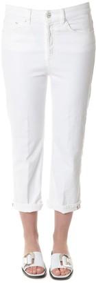 Dondup White Logo Branded Jeans