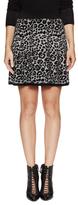 Milly Cheetah Jacquard Flared Skirt