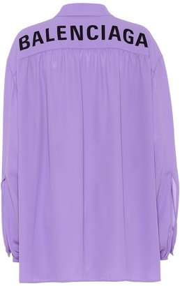 Balenciaga Scarf crApe shirt
