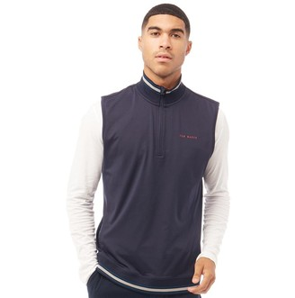 Ted Baker Mens Gala Golf Gilet Zip Through Navy