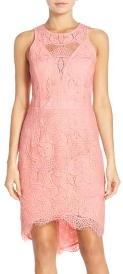 Adelyn Rae Lace High/Low Sheath Dress