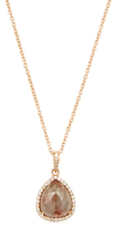 Artisan 14K Rose Gold & 4.10 Total Ct. Diamond Ice Pendant Necklace