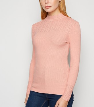 New Look Mid Pointelle High Neck Jumper