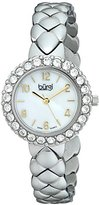 Burgi Women's BUR113SS Analog Display Swiss Quartz Silver Watch