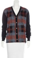 McQ by Alexander McQueen Wool Plaid Cardigan