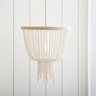 Pottery Barn Teen Wood Beaded Chandelier