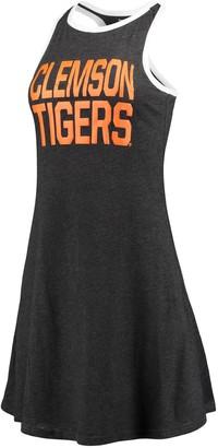Unbranded Women's Charcoal Clemson Tigers Ringer Racerback Tri-Blend Tank Top Dress