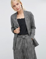 Asos Workwear Blazer In Check