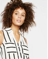 Express Original Fit Sleeveless Stripe Portofino Shirt