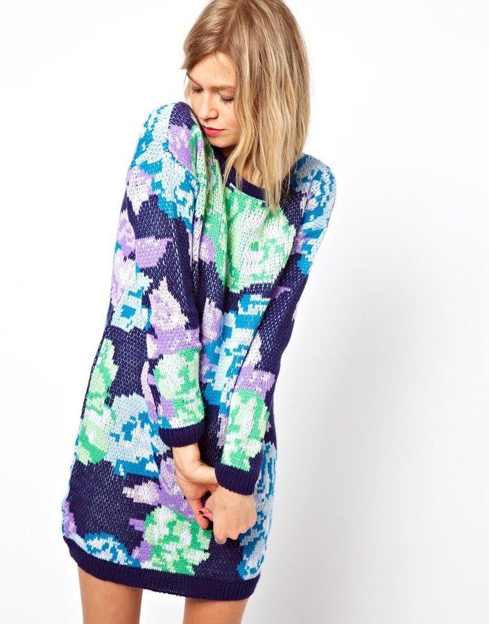 Asos Floral Sweater Dress