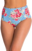 Betsey Johnson Swimwear Urban Rose High Waist Bikini Bottom 8146563