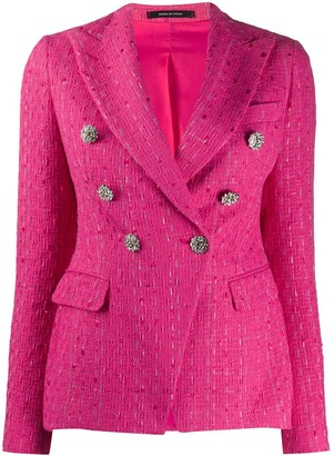 Tagliatore Jalicya tweed-style blazer jacket