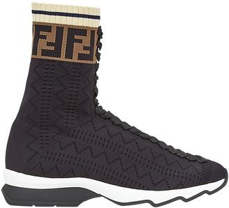 Fendi FF motif sneaker boots
