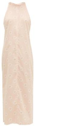 Emilia Wickstead Lulu Striped Poplin Nightdress - Pink