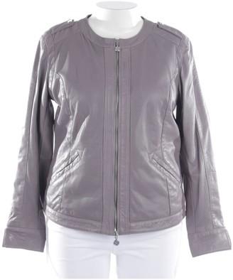 Thomas Rath Grey Leather Jacket for Women