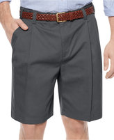 Geoffrey Beene Extender Waist Double Pleat Shorts