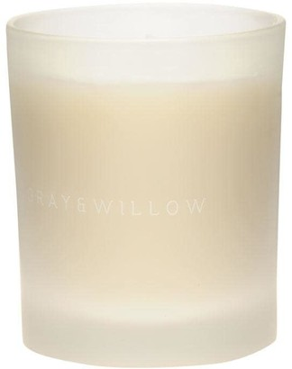 Gray and Willow Gray Glass Scented Candle