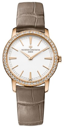 Vacheron Constantin Rose Gold and Diamond Traditionnelle Watch 33mm