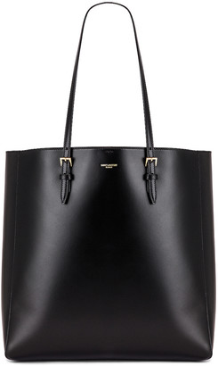 Saint Laurent North South Shopping Tote in Black | FWRD