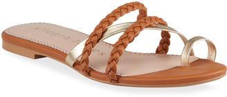 Allegra James Lucy Bicolor Flat Slide Sandals