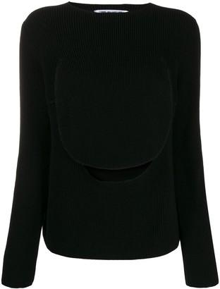 Comme des Garcons front flap knit sweater