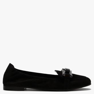 Kennel + Schmenger Nina Black Suede Perspex Trim Loafers