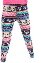 Leggings4U L4U Girls Cute Pink Pirate Brushed Printed Fashion Leggings / Free Expedited Shipping.