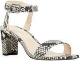 Nine West Pruce Croc Embossed Block Heel Sandal