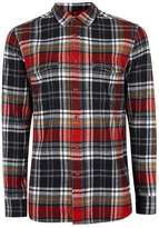 Topman Red Check Casual Shirt