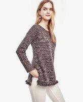 Ann Taylor Fringe Tunic Sweater