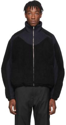 GmbH Navy and Black Teddy Fleece Ecran Jacket
