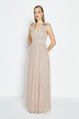 Coast Sleeveless Tulle Maxi Dress