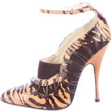 Brian Atwood Snakeskin Booties