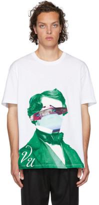 Valentino White Undercover Edition V Face UFO Print T-Shirt