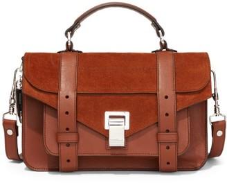 Proenza Schouler Tiny PS1 Leather & Suede Satchel