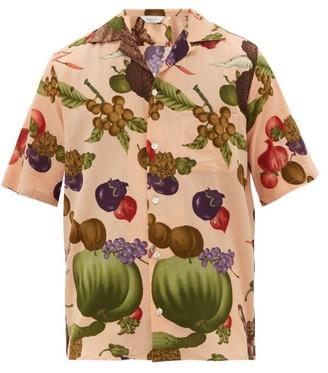 Nipoaloha - Aloha Vegetables And Fruit-print Cotton Shirt - Orange Multi