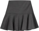 Moschino Flared Virgin Wool Skirt