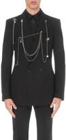 Alexander McQueen Chain-detail wool jacket